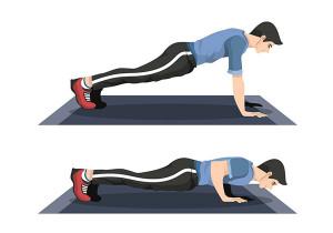 Chống đẩy - hít đất giúp cơ bắp phát triển