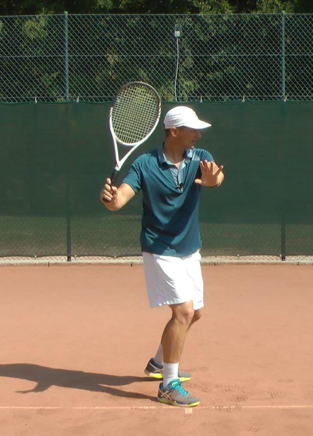 Kĩ thuật tennis thuận tay
